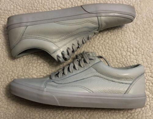 Vans Old Skool Low - Mono Ice Leather - Size 10.5