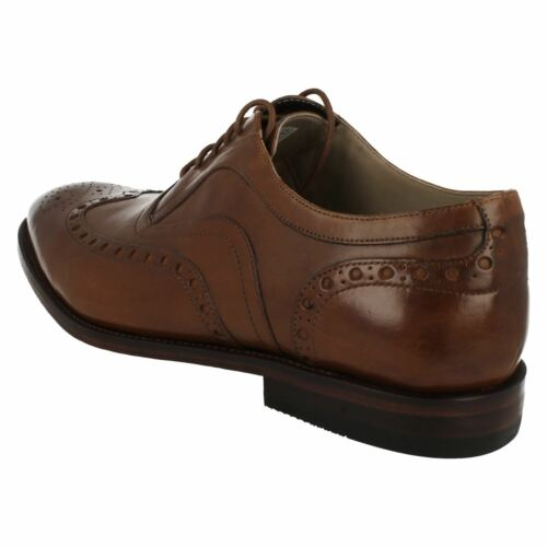 Mens Clarks Twinley Limit Smart Black Or Tan Leather Lace Up Shoes