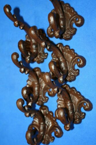 French Country House Entryway Hallway Coat Hooks Volume Priced Cast Iron H-75
