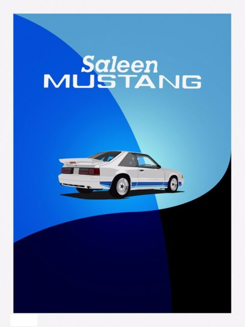 "Mustang Saleen #1 Fox Body High Quality Print 18/""x 24/"""
