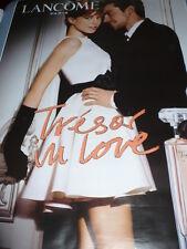 "AFFICHE POSTER GEANT ""LANCOME TRESOR  IN  LOVE  COUPLE""  180x120 TBE NON  PLIEE"