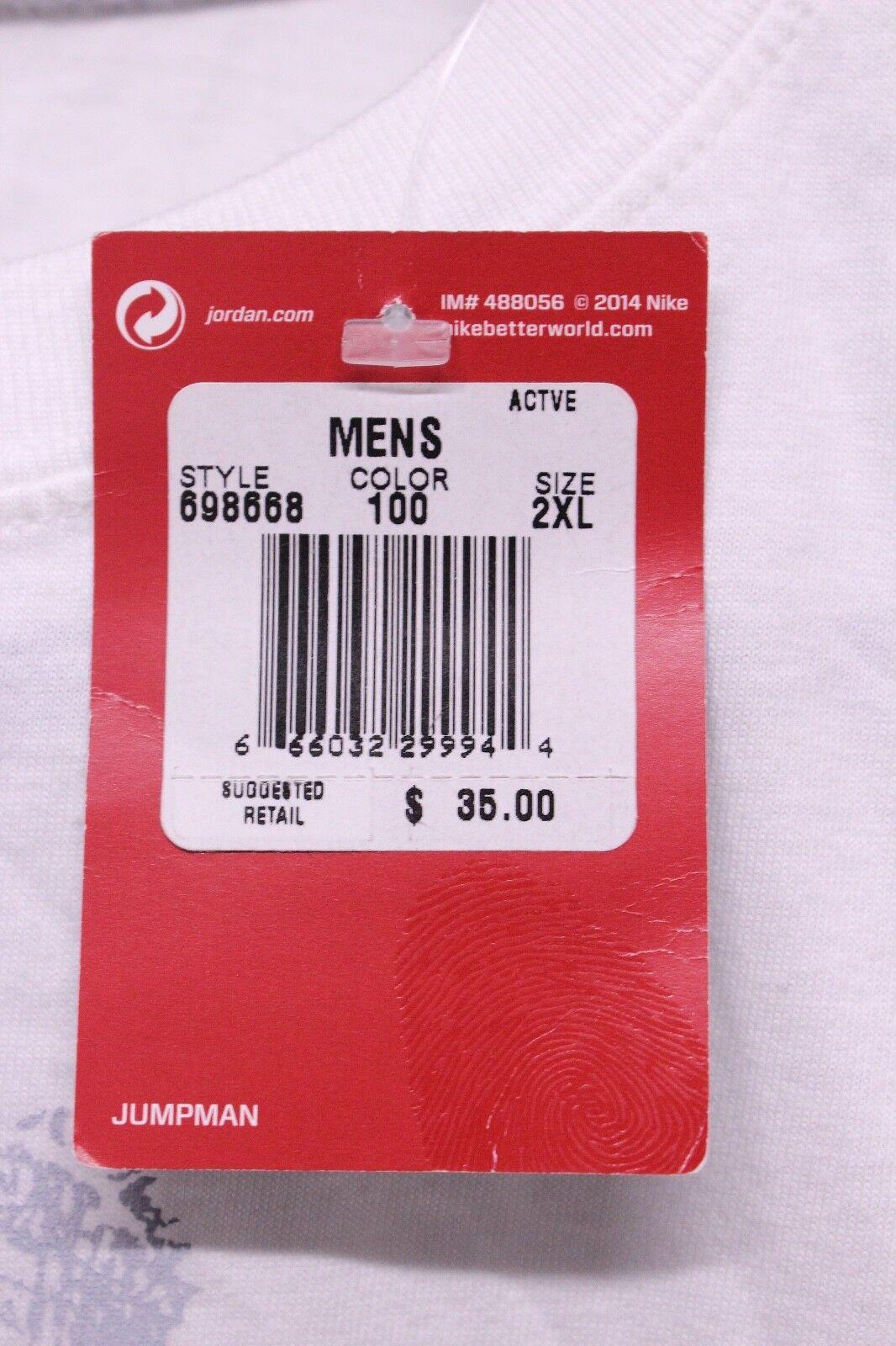 Air Jordan Retro 6 VI Slam bianca rosso Slam VI Dunk Shohoku T-Shirt Uomo Size XL 2XL Nuovo 324a16