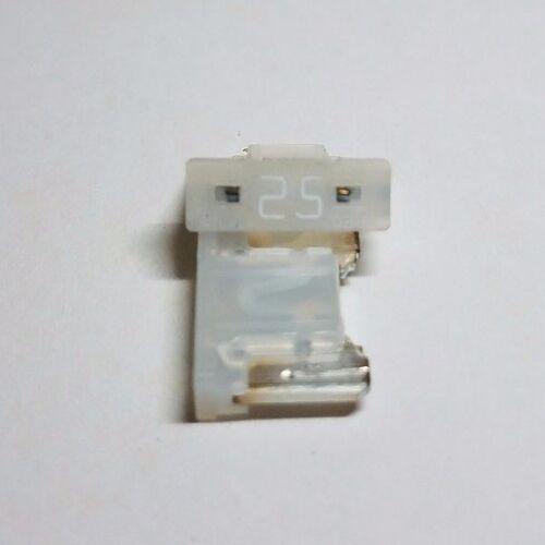 2 total 25 amp Automotive Micro Fuses White Mini Fuses
