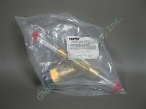Carten-UHP-Ultra-High-Purity-300008-69-Brass-Stainless-Butt-Weld-1-034-Tube-Valve