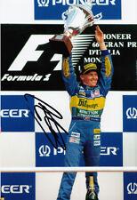 Johnny Herbert Hand Signed Mild Seven Benetton Podium Photo 12x8 1.
