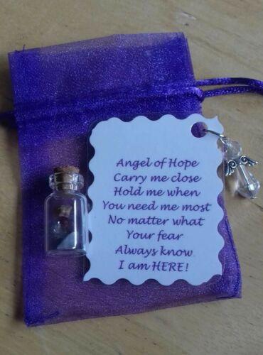 Angel of Hope Pocket// Handbag Keepsake handmade with message