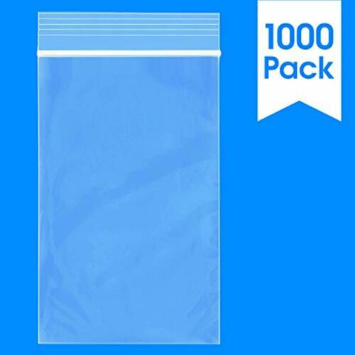 3 X 5 1000 Count 2 Mil Clear Plastic Reclosable Zip Poly Bags with Resealable