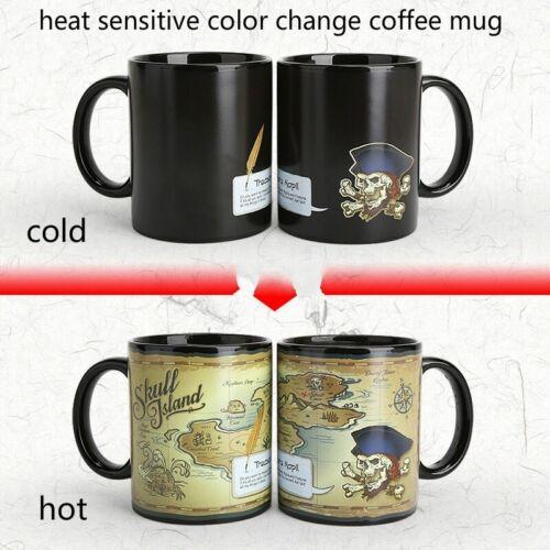 Mug La piraterie Treasure Map Motif sensibles à la Chaleur Changement de couleur en céramique Tasse