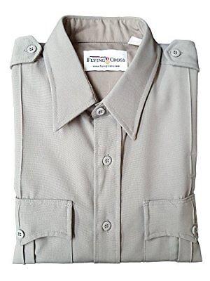 Slate Blue Flying Cross 31R5826 Men/'s Long Sleeve Uniform Shirt