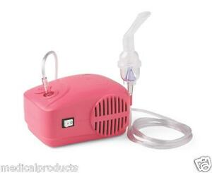 Pink Compact Portable Travel Nebulizer Compressor System