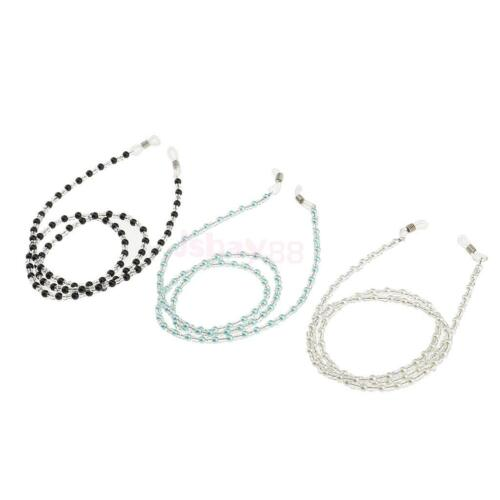 3x Beads Eyeglass Reading Spectacles Sunglasses Glasses Holder Necklace Cord
