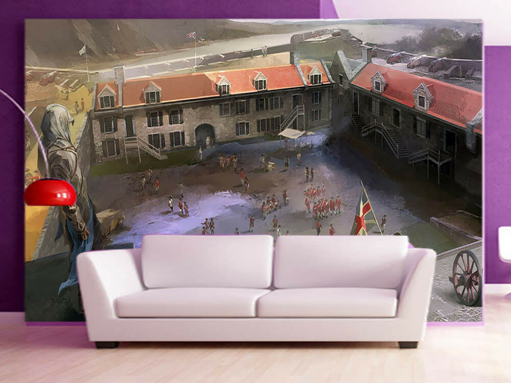 Army Stronghold 3D Full Wall Mural Photo Wallpaper Printing Home Kids Decor