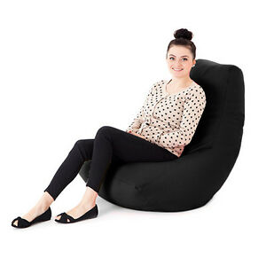 Fantastic Details About Black Faux Leather Adult Bean Bag Gaming Chair Gamer Beanbag Highback Large Xxl Caraccident5 Cool Chair Designs And Ideas Caraccident5Info