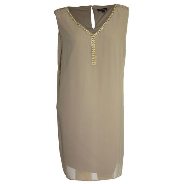 fc9d814a3f SL Fashions 6532 Womens Embellished Sleeveless Tunic Cocktail Dress Plus  BHFO 24w