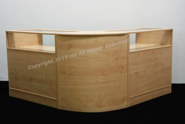 NEW MAPLE  Glass Shop counters  ,FREE DELIVERY, TOP QUALITY, SET OF 3 UNITS