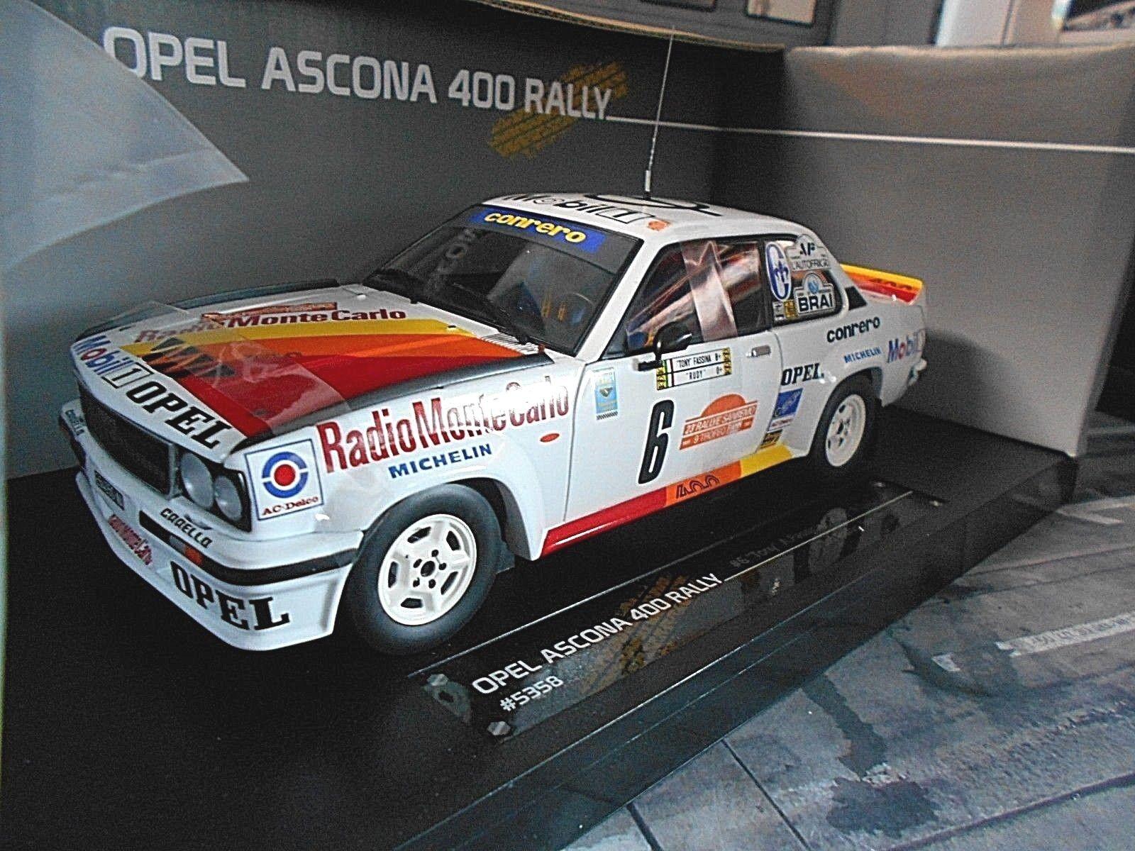 OPEL Ascona B 400 Rallye San Remo 1980 Tony   Rudy Radio Monte Sunstar 1 18