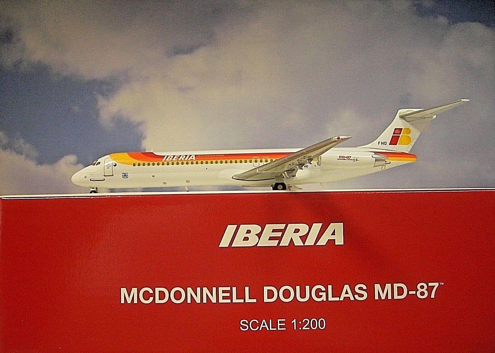 Hogan Wings 1 200 Mc Donnell Douglas Md 87 Iberia Ec-Fhd + Herpa Wings Catalogue