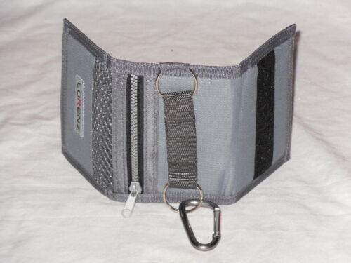 Small Trifold Sports Pocket Wallet With Belt Hook 4 Card Slits Internal Pocket.