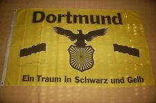 Dortmund ein Traum in schwarz und gelb Flagge Fahne 90 x 150 cm