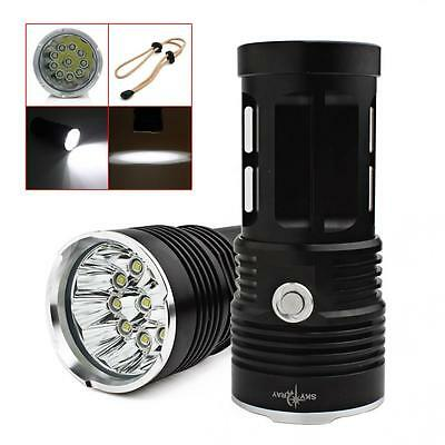 25000LM SKYRAY 10 x CREE XM-L T6 LED Flashlight  4 x 18650 Torch Hunting Lamp