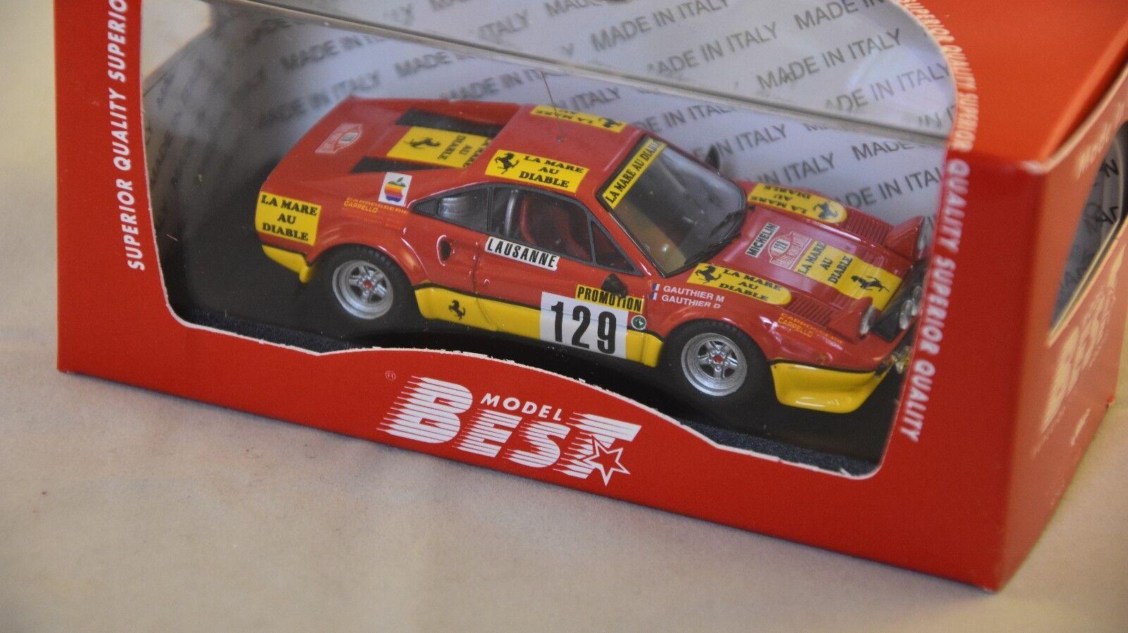 BEST modello BES9620 - Ferrari 308 GTB Gr.4 rtuttiye Monte autolo - 1983    1 43