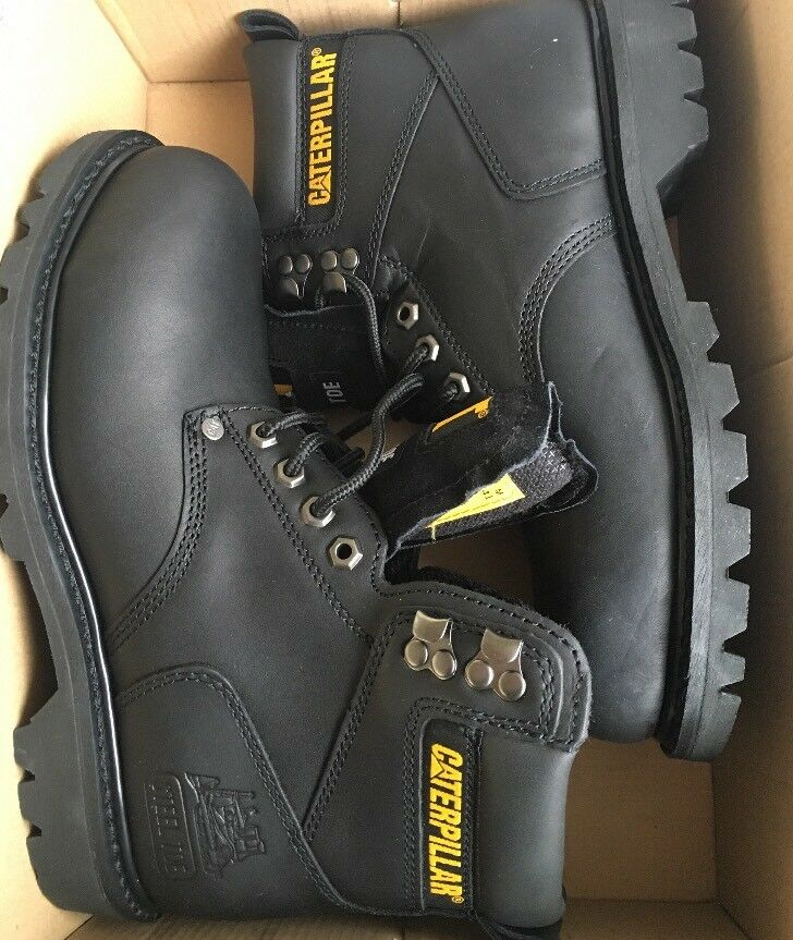 Cat P89135 Size 8 US, Black Steel Toe Boot
