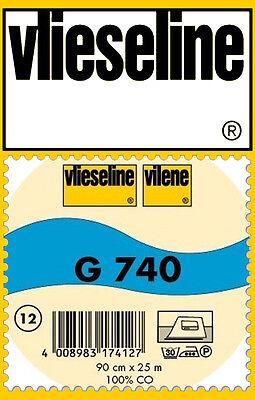 50cm fixierbar Freudenberg//Vlieseline Gewebeeinlage G740 90cm breit  schwarz