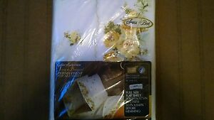 VINTAGE SEARS BEST FLAT SHEET FULL SIZE 81 X 104 YELLOW FLORAL FRENCH BOUQUET