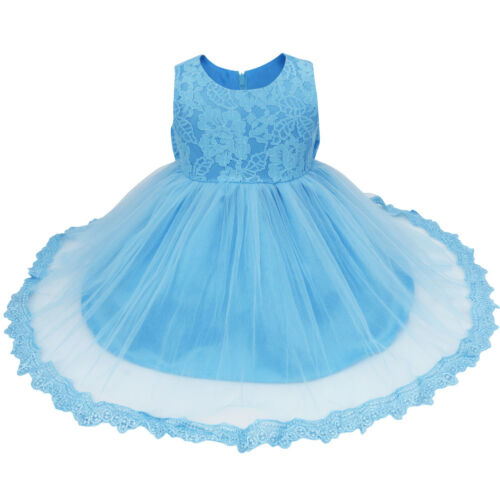 Baby Bow Dress Flower Girl Dress Princess Pageant Wedding Birthday Party Formal