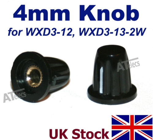 UK Stock Potenciómetro 4mm Perilla de control tapa de plástico WXD3-12 WXD3-13-2W