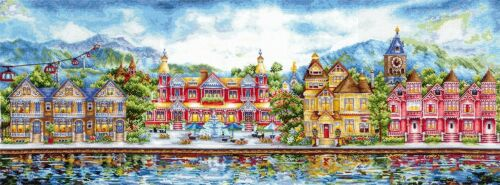 """Counted Cross Stitch Kit MAKE YOUR OWN HANDS B-30 /""""Victorian Promenade/"""""""