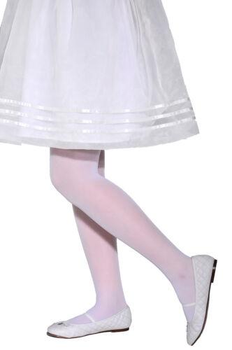 Ala White Plain Tights Transparent Semi-matt  20 Denier Girl/'s Kid/'s Hosiery