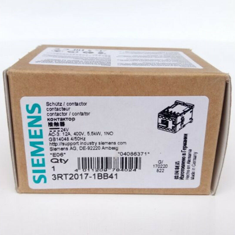 New  Siemens  3RT2017-1BB41  contactor  free shipping