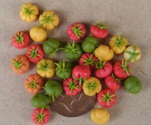 1-12-Scale-10-Mixed-Beef-Tomatoes-Dolls-House-Miniature-Vegetable-Accessories