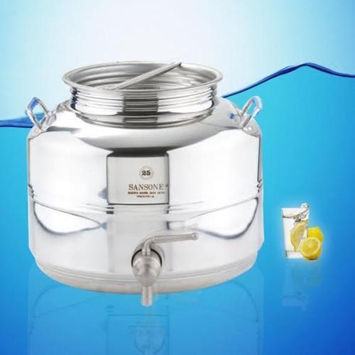 Sansone Inox Distributeur d'eau fusti 25 L 6.6 Gal (environ 24.98 L) + cadeau