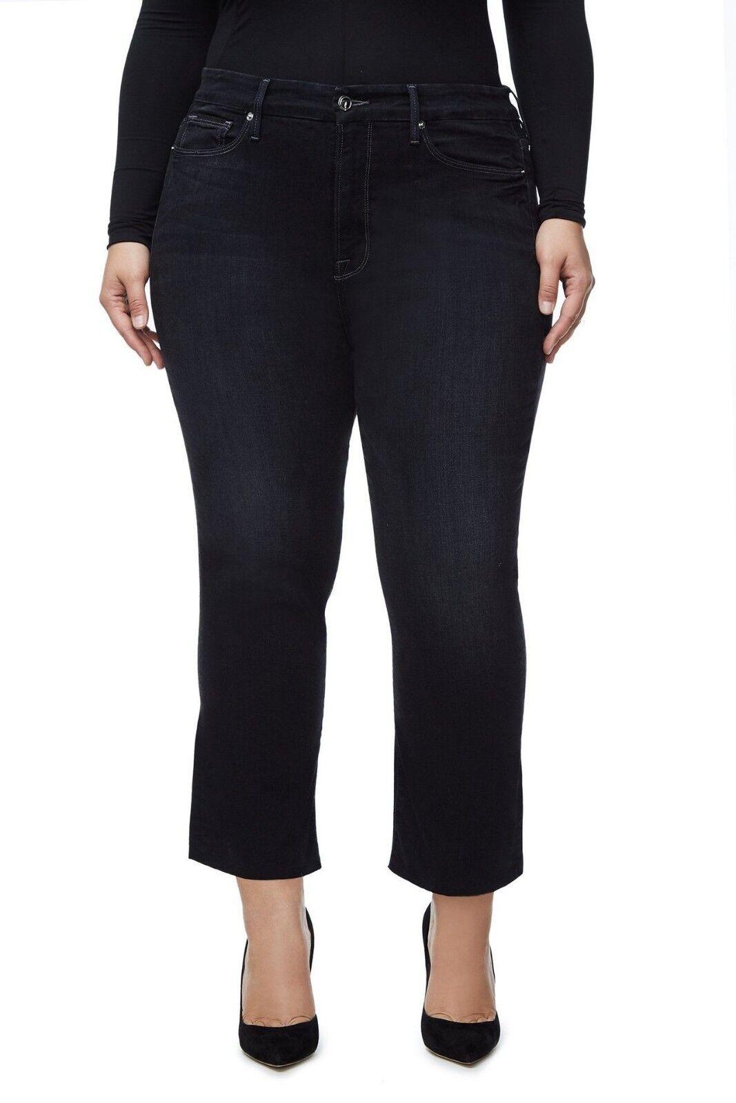 Neu Good American Gerade Jeans schwarz016 Größe 8  1