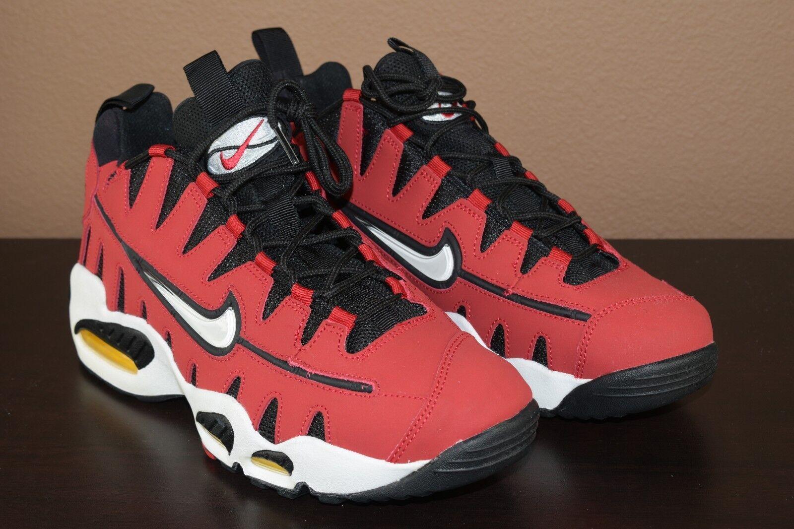 Nike Air Max NM Varsity Red Black Mesh Cutout Teeth 429749-600 Men's Size 11
