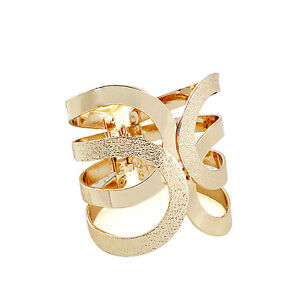 Details About Hollow Wide Bracelet Punk Costume Las Women Gold Silver Cuff Jewelry Bangle