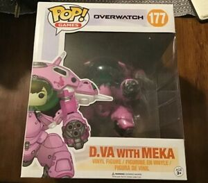 Funko-Pop-Game-Overwatch-D-VA-with-MEKA-Action-Vinyl-Figure-Toy-177-In-Stock