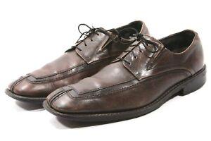 Via-Spiga-Mens-Oxfords-Shoes-Size-10-5-D-Brown-Leather-Twin-Gore-Lace-up-dress