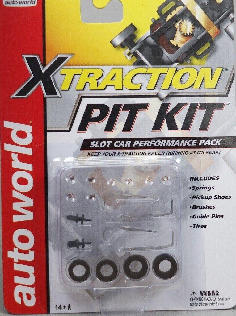 NEW AUTO WORLD X-Traction Slot Car Pit Kit 105 FREE US SHIP
