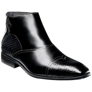 Men's Stacy Adams Faramond Boot Black Size 10 #NJBOE-402