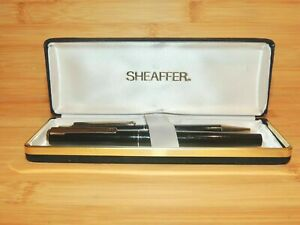 Vintage-Boxed-Sheaffer-Fountain-Pen-and-Ballpoint-Set-Serviced-Clean-AN03