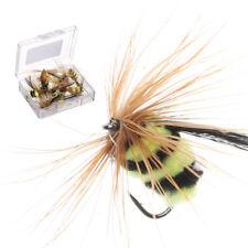 Buck Bug Green//White #12   Salmon Hook  skating Flies