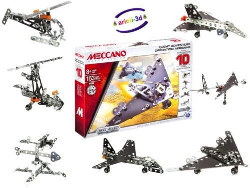 HELICOPTER ROCKET NEW PLANE MECCANO MAKER SYSTEM FLIGHT ADVENTURE 10 MODELS