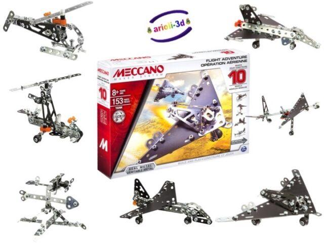 MECCANO MAKER SYSTEM FLIGHT ADVENTURE 10 MODELS - PLANE - HELICOPTER ROCKET NEW