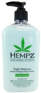 Hempz-TRIPLE-MOISTURE-Herbal-Whipped-Body-Creme-Lotion-17-Oz