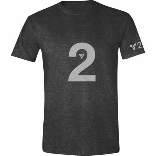 Destiny 2 logotipo Camiseta Hombres Antracita Melange