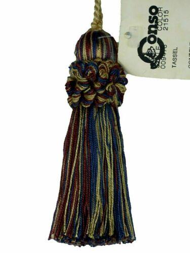 "Conso Oxford 9478 Color 21515 BLUE CABERNET MIX Decorative 4/"" Key Tassel 3/"" Loop"