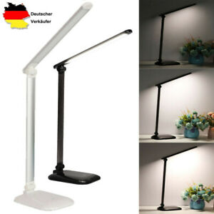 LED Tischleucht Schreibtischlampe USB Dimmbare Touch Leselampe Nachttisch